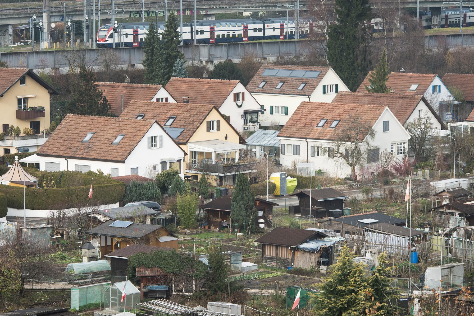 Blick auf die Siedlung Grubenacker